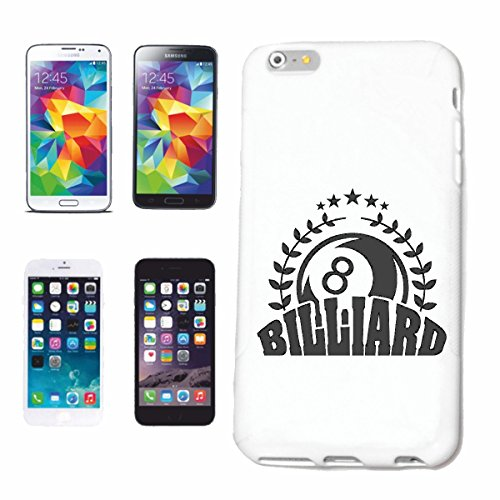 "cas de téléphone iPhone 6+ Plus ""Snoker BILLARD BILLES BILLARD Les Billards Table de billard Table QUEUE"" Hard Case Cover Téléphone Covers Smart Cover pour Apple iPhone en blanc"