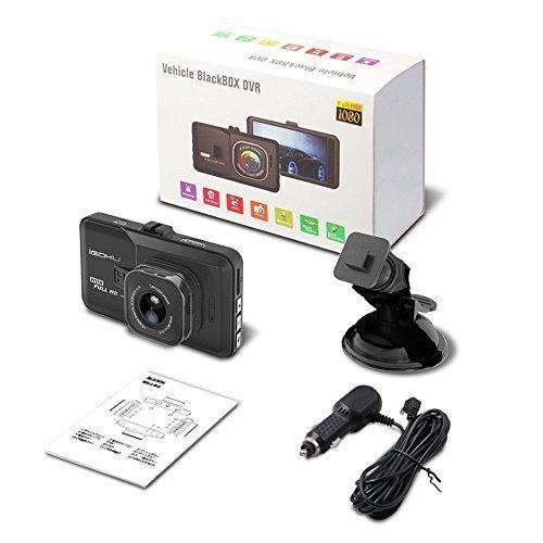 TSF6 Cam/éra de Tableau de Bord pour Voiture avec Full HD 1080p 170 degr/és Super Grand Angle /écran TFT 3,0 Vision de Nuit capteur G Enregistrement en Boucle WDR