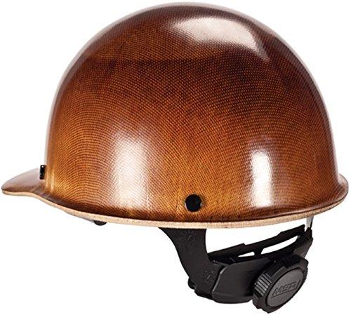 Brown Fiberglass Hardhat-cap MSA (Ironworkers) Size - - Hardhat Fiber
