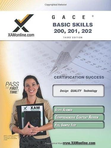 gace basic skills 200 201 202 teacher certification test prep rh amazon com Study Skills Class Study Skills Worksheets