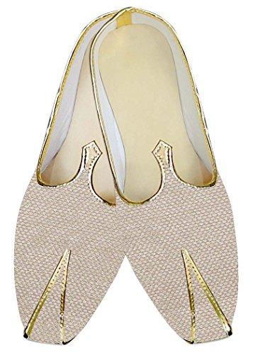 INMONARCH Yute Marfil Hombres Boda Zapatos Étnicas MJ014121