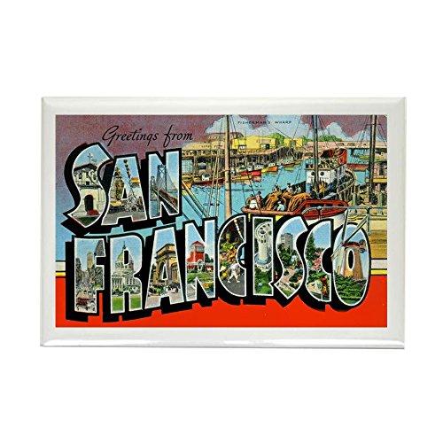 CafePress - San Francisco California Greetings Rectangle Magne - Rectangle Magnet, 2