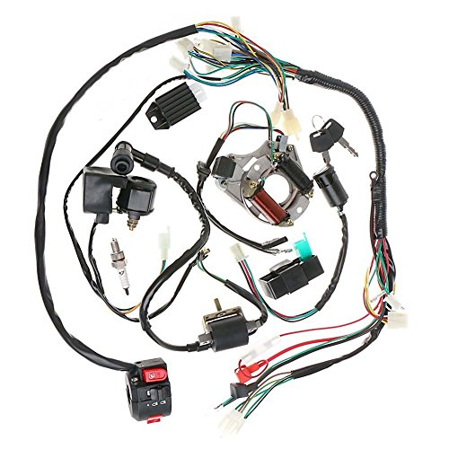 Annpee Complete Electrics Stator Coil CDI Wiring Harness for 4 Stroke ATV KLX 50cc 70cc 110cc (Electric Stator)