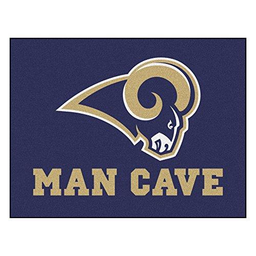 Louis Rams Floor Rug (Los Angeles Rams Man Cave All-Star Area Rug Mat)