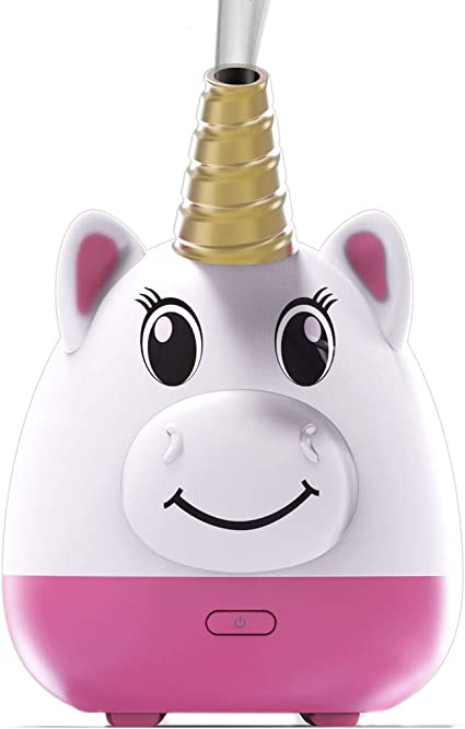Simply Diffusers Unicorn Kids Cute Aromatherapy Diffuser for Essential Oils Patented with new Silicone Soft Top Design, USB Powered with an