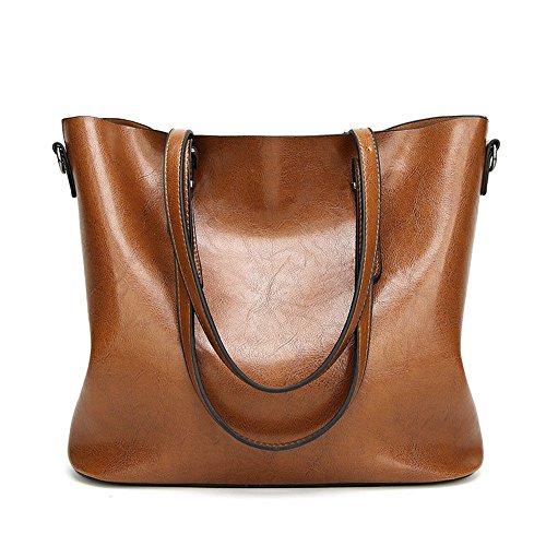 GWQGZ La Nueva Bolsa De Mensajero Tote Bag Fashion Shoulder Bag Negra Brown