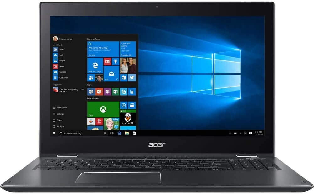 Acer Spin 5 SP515-51N-51GH 15.6-Inch FHD IPS Touch i5-8250U 8GB 1TB Windows 10 (Renewed)