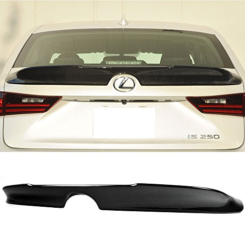 Trunk Spoiler Fits 2014-2016 Lexus IS250 XE30 |Carbon Fiber CF Rear Tail Lip Deck Boot Wing Other Color Available By IKON MOTORSPORTS | ()