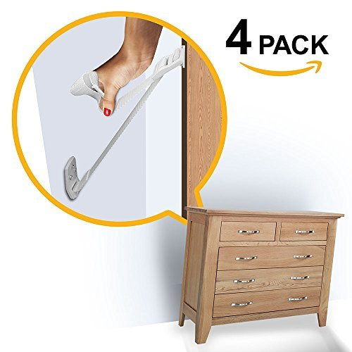Ella's Homes Furniture and TV Anti Tip Straps   Adjustable Earthquake Resistant Straps   Best Wall Anchor   Protection For Children   Baby Proof & Extra Strong ABS Kit , 6 pack from Ellas Homes