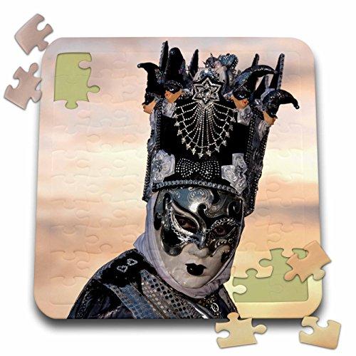 Venice Carnival Costumes (Danita Delimont - Venice Carnival - Beautiful mask, headwear, costume for Carnival in Venice, Italy 01 - 10x10 Inch Puzzle (pzl_249219_2))