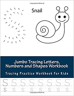 Buy Jumbo Tracing Letters Numbers And Shapes Workbook For Preschoolers Toddlers Ages 3 5 Learn To Trace The Alphabet Great First Words Color