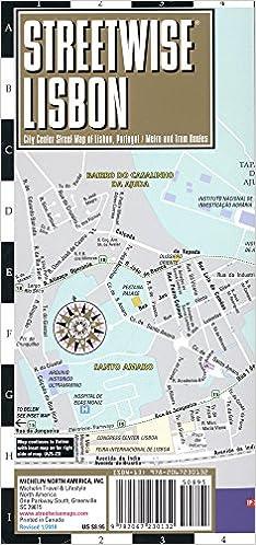 Streetwise Lisbon Map Laminated City Center Street Map of Lisbon