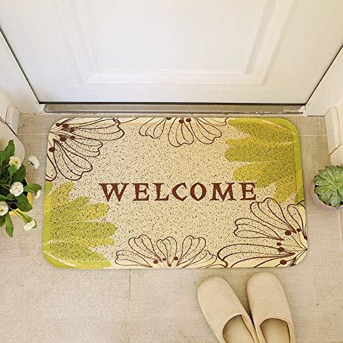 WXDD Felpudos Caja Personalizada Puerta a Puerta, Felpudo, baño, Alfombra Antideslizante, vestíbulo de Entrada, tapete de balcón, Felpudo, 45 * 75 cm, Loto Rojo