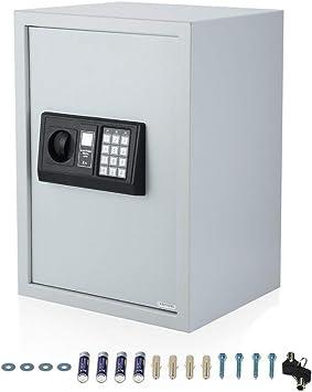 Muebles GmbH – Caja Fuerte con Cerradura de combinación electrónica pequeño Caja Fuerte Cerradura electrónica, Documentos Caja Fuerte Pared Caja Fuerte Dinero Safe Habitaciones Fuerte, Color Blanco: Amazon.es: Bricolaje y herramientas