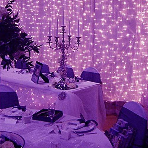 HighlifeS 30M 300 LED Window Curtain String Light Wedding Party Home Garden Bedroom Outdoor Indoor Wall Decorations (Purple)