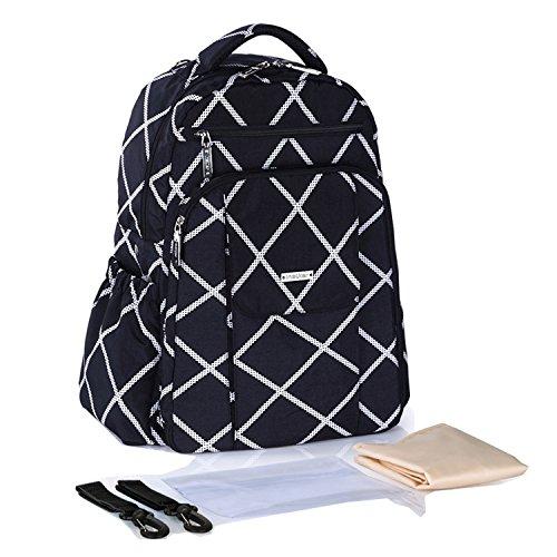 BigForest Maternity Multifunctional Mummy Large capacity Backpack Travel Tote Bag Baby Diaper Handbag Nappy Changing Bag Black Black