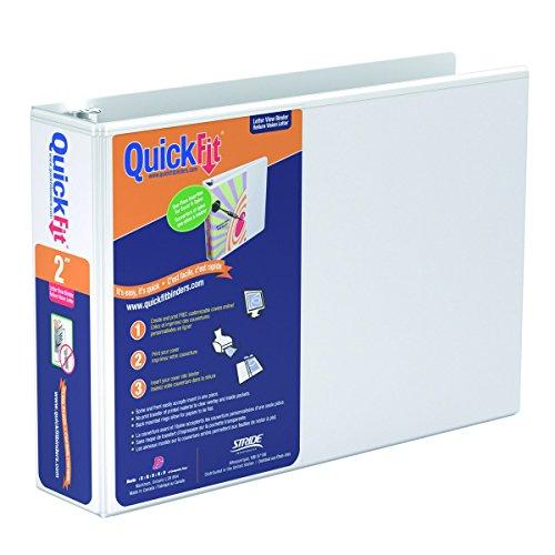 QuickFit 2 Inch Spreadsheet View Binder  8.5