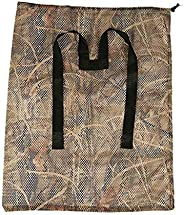 Gaetooely 1 Pc Hunting Polyester Mesh Decoy Bag with Dry Grass Camouflage Printing Waterfowl Duck Turkey Durab