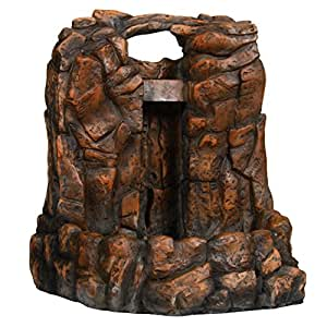 Amazon Com Zoo Med 26376 Repti Rapids Led Waterfall Rock