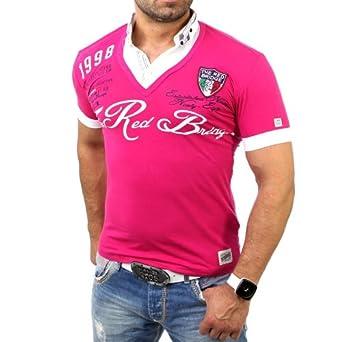 REDBRIDGE Hombre Polo de R 2027 Rosa rosa Small: Amazon.es: Ropa y ...