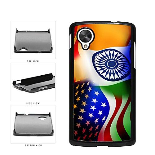 BleuReign(TM) India and USA Mixed Flag Plastic Phone Case Back Cover Google Nexus 5 D820 (Best Nexus 5 Covers India)