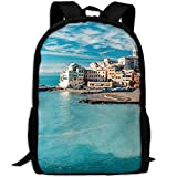 ZQBAAD Italy Mediterranean Luxury Print Men And Women's Travel Knapsack