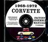 STEP-BY-STEP 1968 1969 1970 1971 1972 CORVETTE FACTORY ASSEMBLY INSTRUCTION MANUAL CD - ALL MODELS INCLUDING; C-3, Sting Ray, Stingray, Coupe, Hardtop, Convertible - VETTE