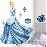 Roommates Rmk1957Gm Disney Princess Cinderella Glamour Peel And Stick Giant Wall Decal