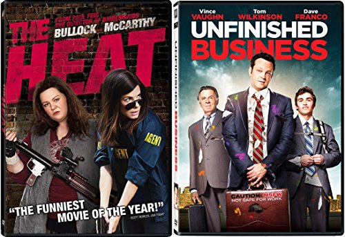 Unfinished Business & The Heat Double Feature DVD Fun Comedy movie Set Combo Double - And Kunis Sister Mila