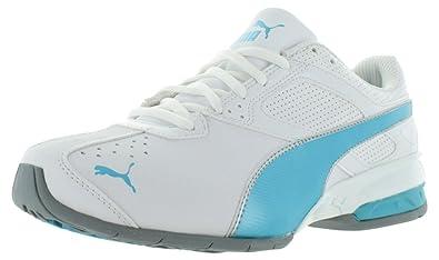 PUMA Women's Tazon 6 Wn's Cross-Trainer Shoe, White-Blue Atoll, ...