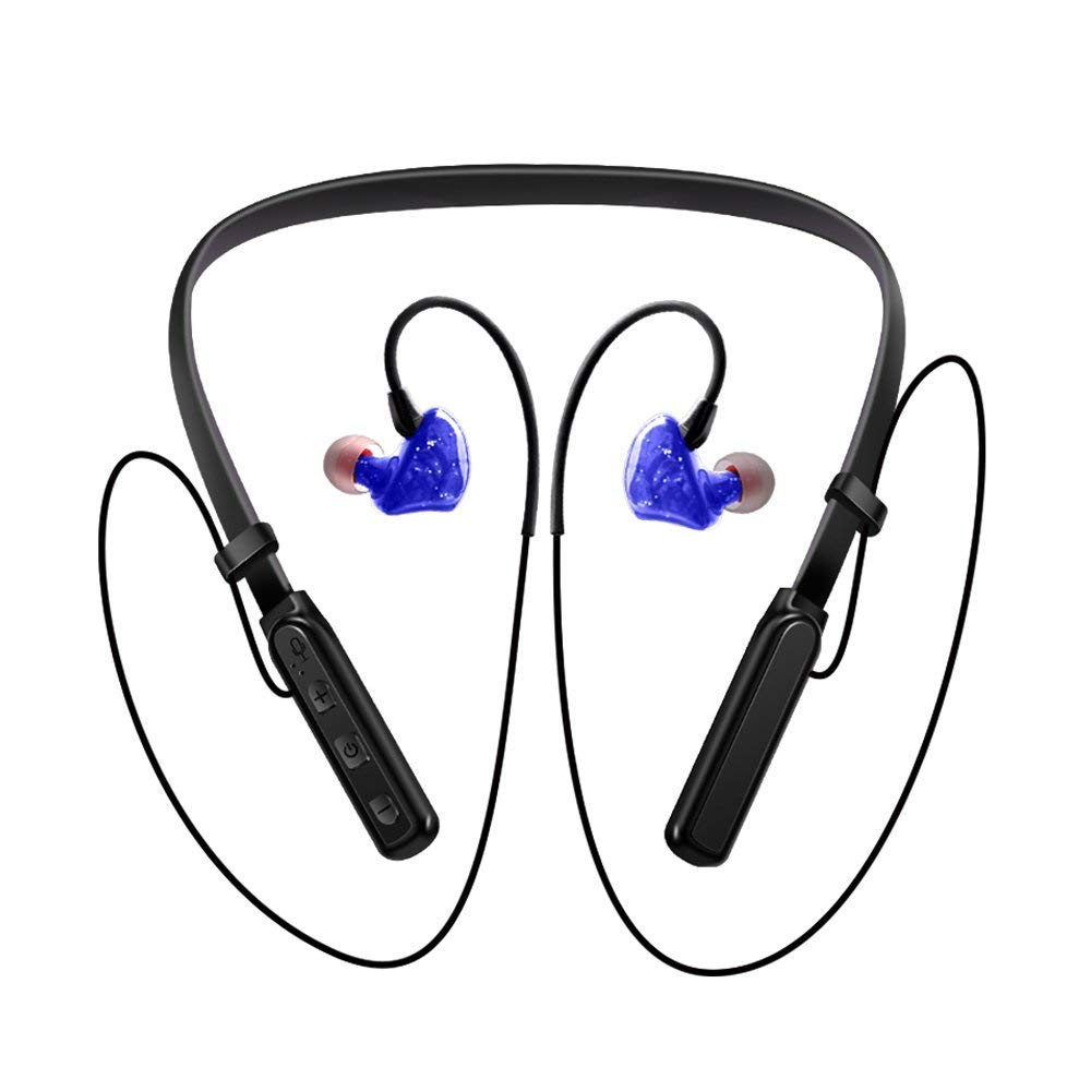 Nanle Bluetooth Headphones, Sports Fitness Listening Neck Earbuds, Waterproof Running Ears Earphones Hanging Earrings Smart Phones for Notebooks and More