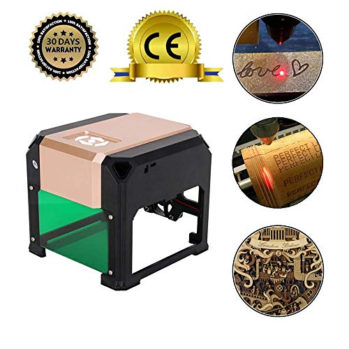 3000MW Laser Engraving Machine(8x8cm), USB Mini Desktop Laser Engraver Printer DIY Logo Mark Printer Cutter CNC Laser Carving Machine Review
