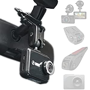 Dash Cam Mirror Mount - Fits Falcon F170HD,Rexing V1, Z-Edge, Old Shark, YI, Amebay,KDLINKS X1,VANTRUE and Most Other Dash Cameras