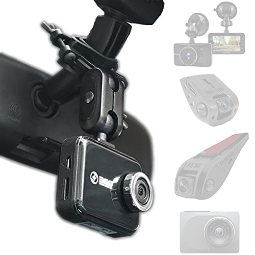 : Dash Cam Mirror Mount - Fits Falcon F170HD,Rexing V1, Z-Edge, Old Shark, YI, Amebay,KDLINKS X1,VANTRUE and Most Other Dash Cameras