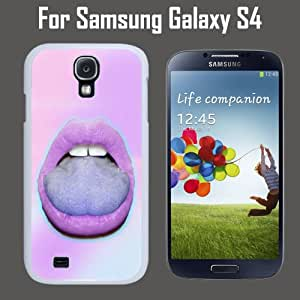 Pastel Goth Lipstick Custom Case/ Cover/Skin *NEW* Case for Samsung Galaxy S4 - White - Plastic Case (Ships from CA) Custom Protective Case , Design Case-ATT Verizon T-mobile Sprint ,Friendly Packaging - Slim Case