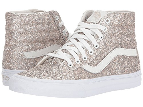 Vans SK8-HI REISSUE (CHUNKY GLITTER) mens skateboarding-shoes VN-A2XSBQSG_6.5 - Multi/True White