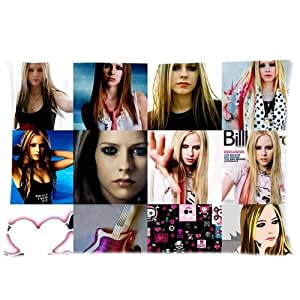 At-Baby Bedding Home Decoration Custom Avril Lavigne Standard Zip Pillowcase Two Sides 20x30 Inch TT1