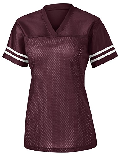 Cashmere Jersey T-shirt (Sport-Tek Ladies PosiCharge Replica Jersey, XL, Maroon/ White)