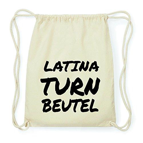 JOllify LATINA Hipster Turnbeutel Tasche Rucksack aus Baumwolle - Farbe: natur Design: Turnbeutel