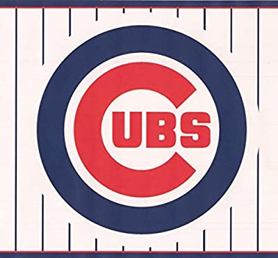 Chicago Cubs MLB Baseball Team Fan Sports Wallpaper Border Modern Design, Roll 15' x 6''