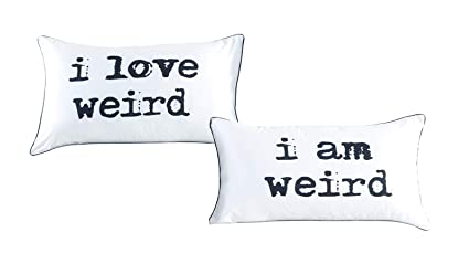 Amazon.com: I love weird and I am weird couples pillowcase set ...