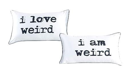 I love weird and I am weird couples pillowcase set,Romantic Gift ...
