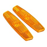 SODIAL Bike bicycle wheel spoke reflectors Reflective safe Mountain Road / Yellow / 1 pair