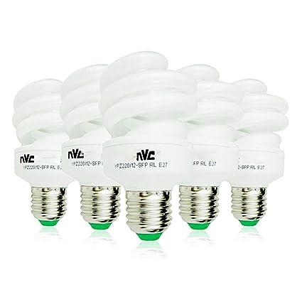 Bombilla LED E27 Bombilla espiral grande 12W 15W 23W6500K Luz del día (blanco) (