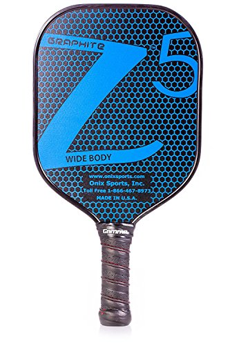 Onix Graphite Z5 Pickleball Paddle with Onix branded grip + Free Overgrip (Babolat Pro Tour) (Tour Paddle)