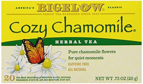 Bigelow Cozy Chamomile Herbal Tea Bags, 20-Count Boxes (Pack of 6), Chamamile Tea Bags, Relaxing Herbal Tea, All Natural, Gluten Free