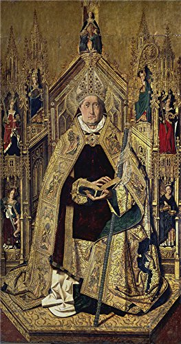 Oil Painting 'Bermejo Bartolome Saint Dominic Of Silos Enthroned As A Bishop 1474 77', 24 x 46 inch / 61 x 116 cm , on High Definition HD canvas prints, Dining Room, Game Room And Kitchen (Coupons For Party City 2016)