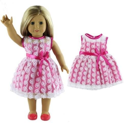 EatingBiting(R)Doll Elegant Dress Clothing Clothes Outfit , Pink Pretty Summer Dress Fits Outfit For 18