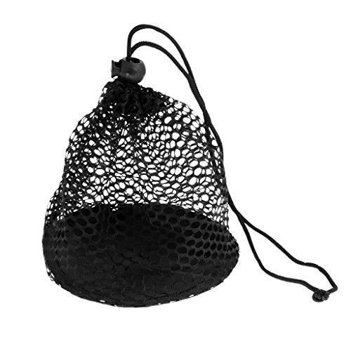 Jili Online Durable Nylon Mesh Nets Bag Pouch Golf Tennis Ball 12/25/50 Balls Carrying Holder Storage Drawstring Closure Bag - L (Mesh Golf Pouch)