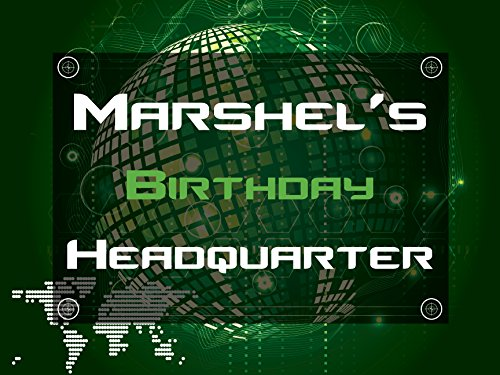 Custom Global International Theme Happy Birthday Party Poster   Size 36X24  48X24  48X36  Personalized Headquarters Birthday Party Banner Wall D Cor  Handmade Party Supply Poster Print